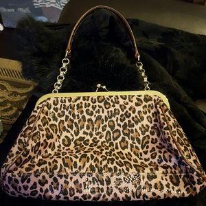 LIZ CLAIBORNE  Pink Leopard Bag
